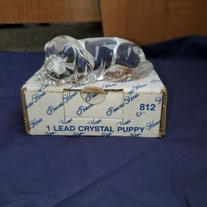 Princess House Crystal Puppy